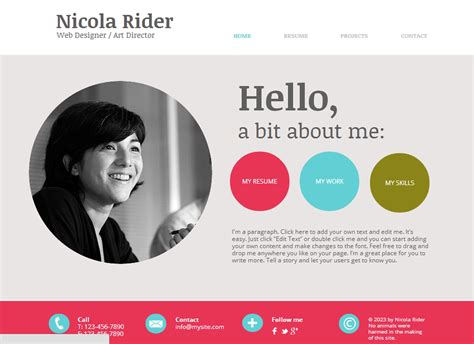 plain ideas resume website examples 41 html5 resume templates free
