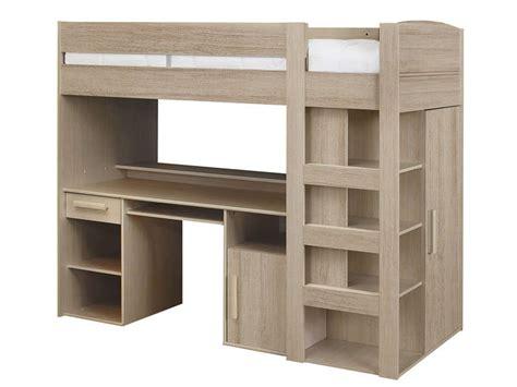 lit bureau conforama lit mezzanine 90x200 cm montana ch 234 ne gris vente de lit