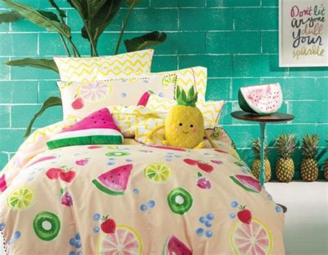 fun bedding 20 cheerful fruit print bedding sets for summer shelterness