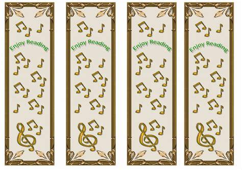 printable welcome bookmarks music bookmarks birthday printable