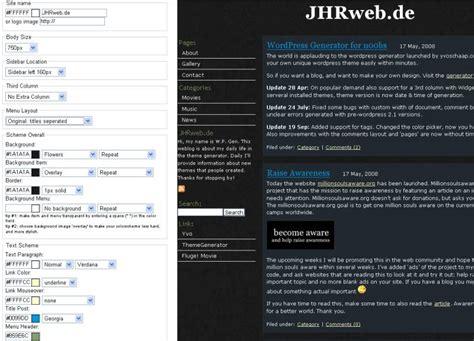 Wordpress Themes Erstellen Generator | wordpress design kinderleicht selbst erstellen jhrweb