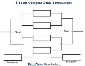 8 team bracket template 8 player compass draw tournament bracket printable