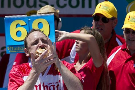 Joey Chestnut Does It Again by Make America Eat Again Joey Chestnut Downs Record 70