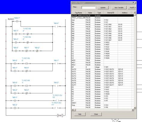Plc Atama 220 231 fazlı asenkron motor elektriksel kilitleme ve y 246 n değiştirme plc automation studio