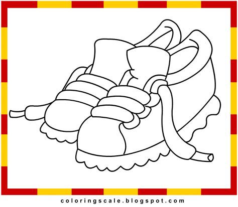 free coloring pages of nike boots