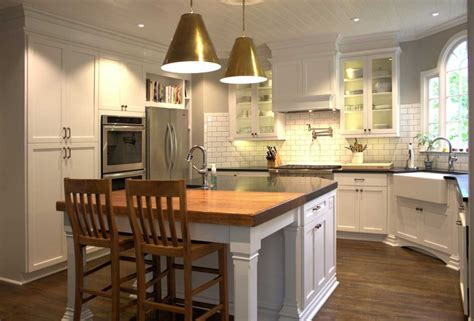 Farm Style Kitchen by Modern Farmhouse Style Kitchen With White Wooden Cabinet