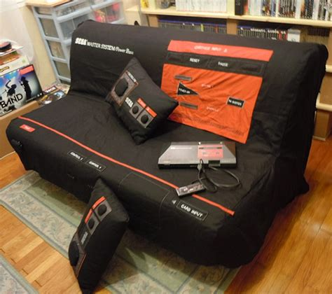 gamer sofa sega master system sofa press start to sleep