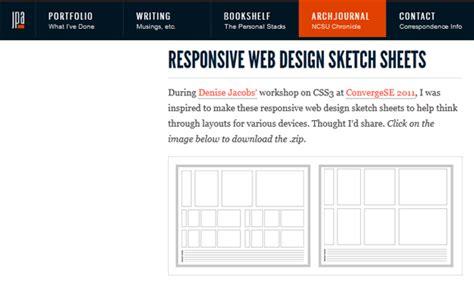 html responsive design framework responsive web design sketch sheets 20 sketch sheets and