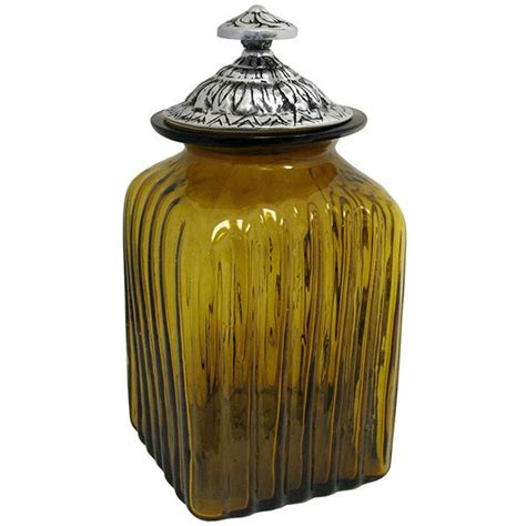 blown glass canisters collection olive leaf kitchen