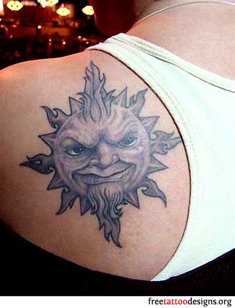 sun shoulder tattoo designs 65 sun tattoos tribal sun designs