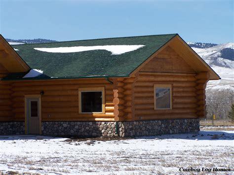 Log Garage by Buckboard 2 Car Log Garage Plan Cowboy Log Homes