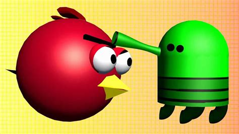 Doodle Jump With The Angry Birds 3d Animated Mashup