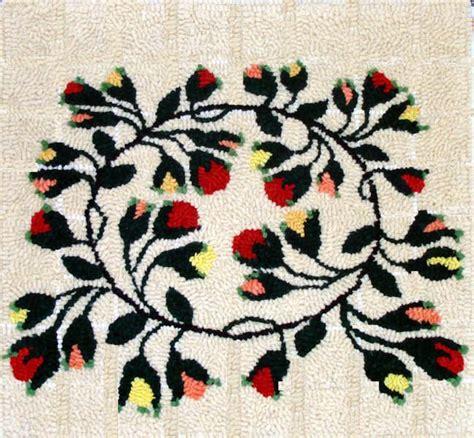 green mountain rug hooking kit circle of flowers green mountain hooked rugs