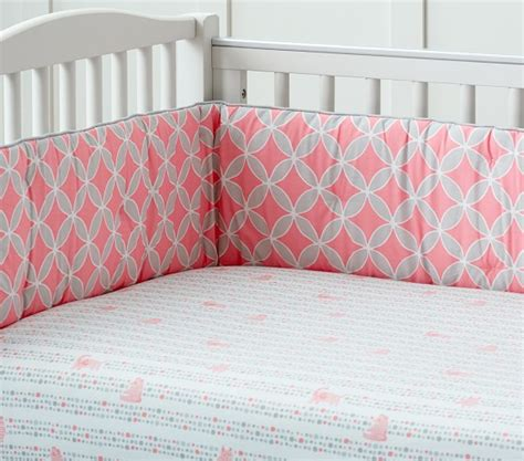 Soho Crib Bedding Set Soho Nursery Bedding Set Pink Pottery Barn