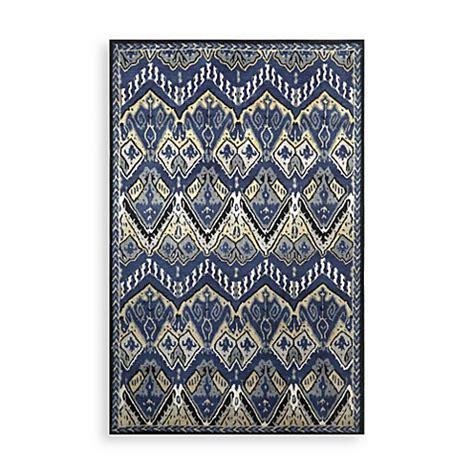 ikat bath rug trans ikat rug in indigo bed bath beyond