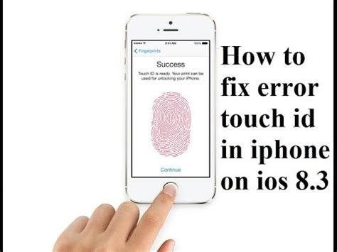 how to fix error touch id failed iphone 5s 6 6plus on ios