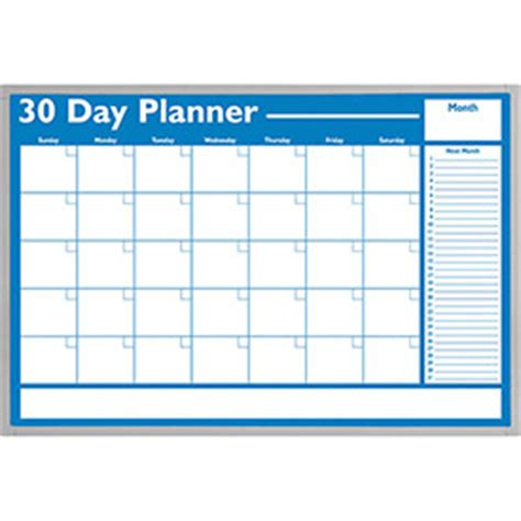 Do Calendar Days Include Weekends Whiteboards Bulletin Boards Whiteboards 30 Day Non