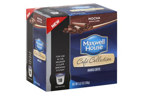 k cup carbohydrates maxwell house cafe collection mocha coffee single serve
