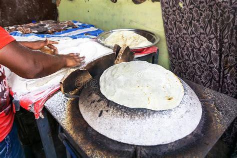 plain chapatti roti stock image image  dough bread