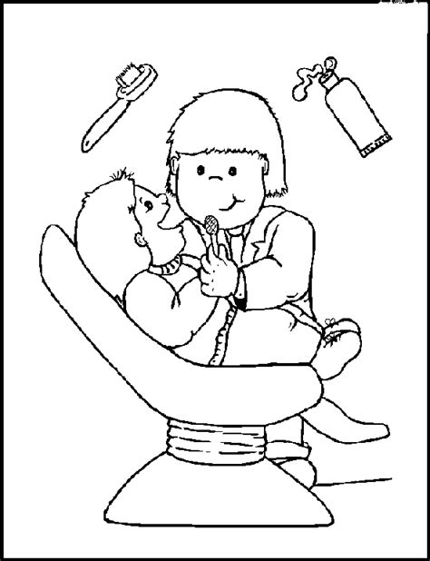 Dentist Coloring Page animations a 2 z coloring pages of dental health