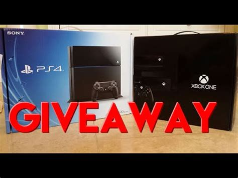 Playstation 4 Giveaway - ps4 xbox one giveaway january 2015 youtube