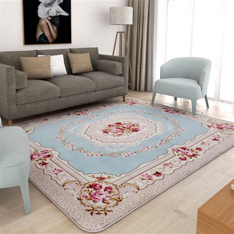 large bedroom rugs aliexpress buy honlaker european pastoral carpet living room sofa floor mats soft