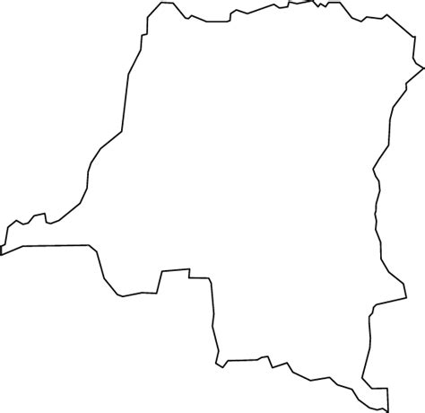 Republic Map Outline by Democratic Republic Of The Congo Outline Map
