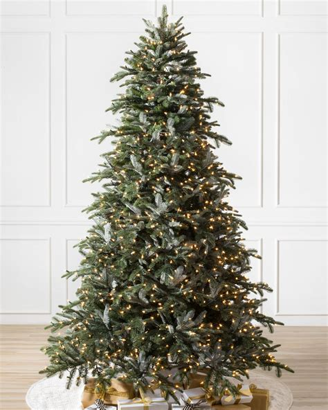 nordmann fir narrow artificial christmas tree balsam hill