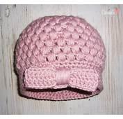 Gorro Rosa Con Lazo A Crochet  Carmela Desde Oviedo