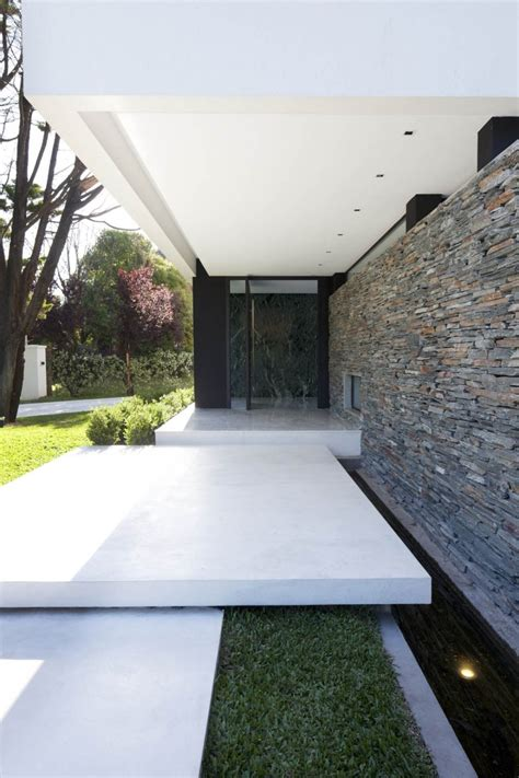 handsome exterior house of dainty entrance design with
