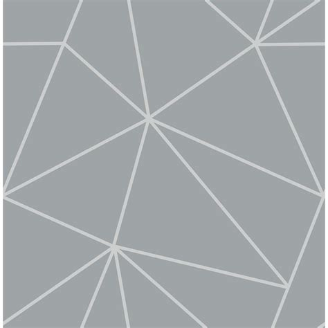 fine decor      arken silver geometric wallpaper