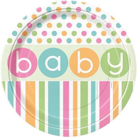 Gamis Polkadot pastel polka dot baby shower unisex boy tableware decorations ebay