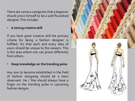 becoming a designer facts to be known to become a fashion designer