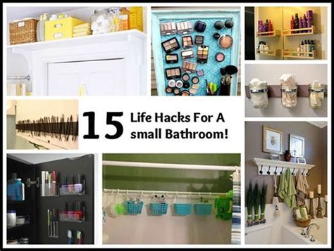 Tiny Bathroom Hacks Buzzfeed 15 Hacks For A Small Bathroom For The Home