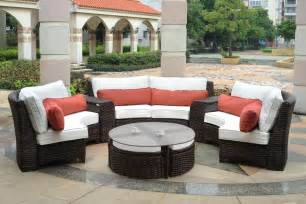 Wicker Patio Sectional by Fiji Curved Outdoor Resin Wicker Patio Sectional