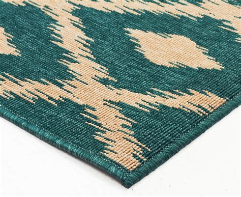 Diamonds 320x230cm Uv Treated Indoor Outdoor Rug Teal Outdoor Rug Australia