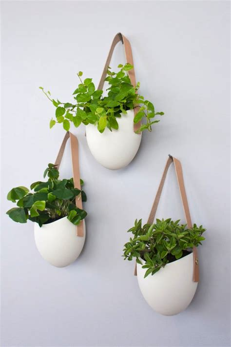 planters that hang on the wall 187 ceramic wall planters by light ladder