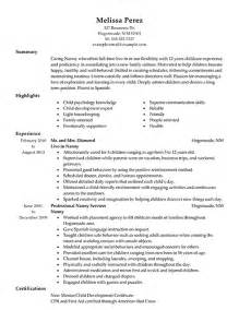 nanny resume template time nanny description nanny duties checklist and