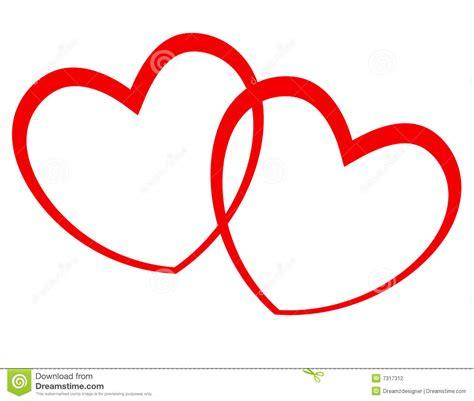 imagenes de 2 corazones unidos corazones ilustraci 243 n del vector ilustraci 243 n de d 237 a amor
