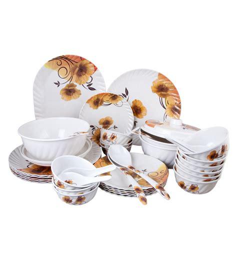 Set Melamin Golden Premium stand max golden brown floral melamine dinner set set of