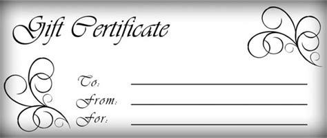 printable vouchers gift certificates templates free printable gift