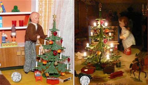 puppenhaus weihnachtsbaum antike weihnachtsb 228 ume f 252 r die puppenstube