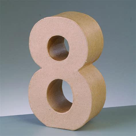 Kerzenhalter 8 Buchstaben by Zahl 8 5x2 Cm Aus Pappmach 233 Kreativ Depot