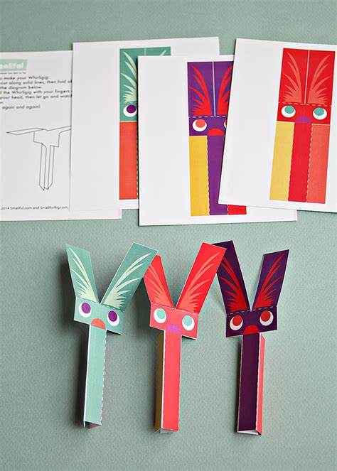 Print And Make Paper Toys - play pack 8 printable toys smallful