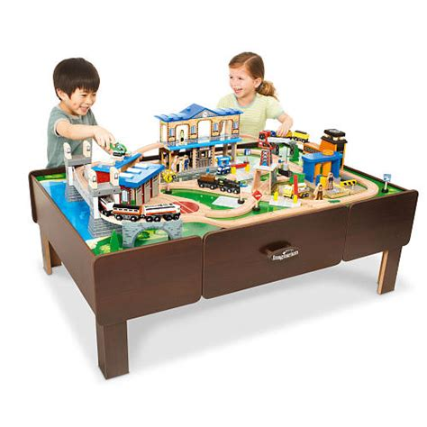 train table with drawers toys r us this month s featured toy city central train table