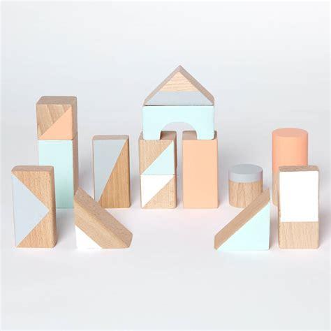 large wooden blocks pastel large wooden blocks by happy folks