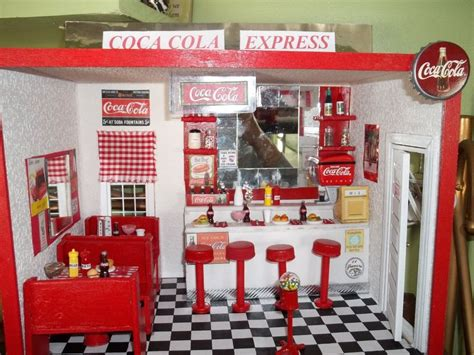 doll house restaurant roombox display dollhouse miniature room box vintage soda shop restaurant new ebay