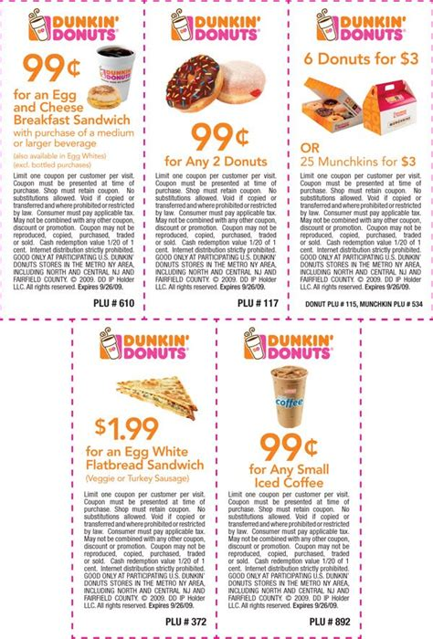 Dunkin Donuts Coupons   Printable Coupons Online