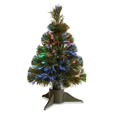 pre lit fiber optic 7 green artificial christmas tree
