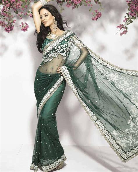 hairstyles in net saree neeta lulla for arissa forest green net saree hair